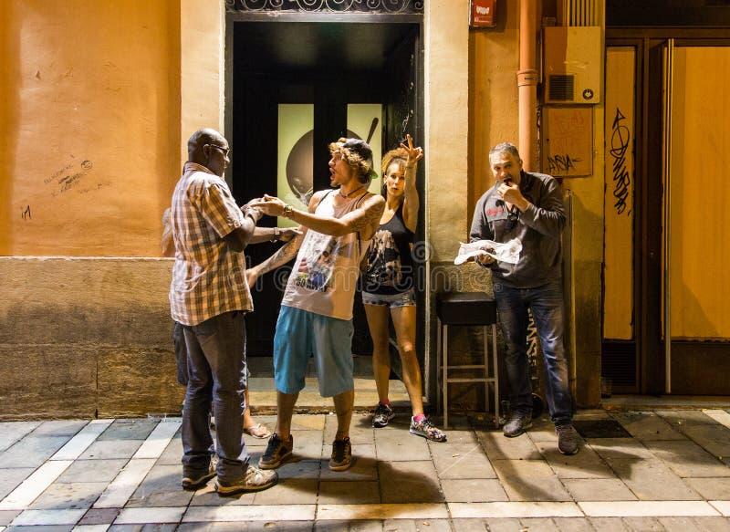 潘普洛纳西班牙街道 免版税库存照片
