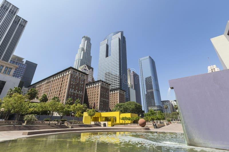 潘兴广场公园街市洛杉矶 库存照片