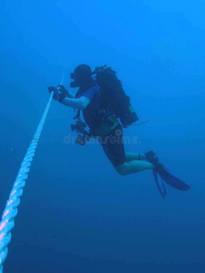 潜水员安全性终止 库存照片