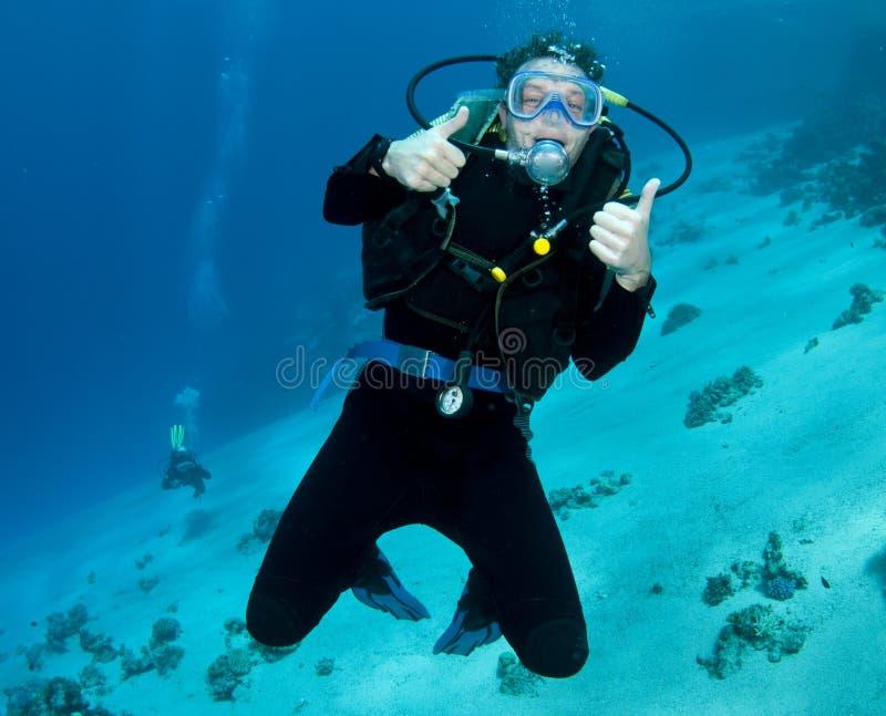 潜水员水肺 免版税图库摄影