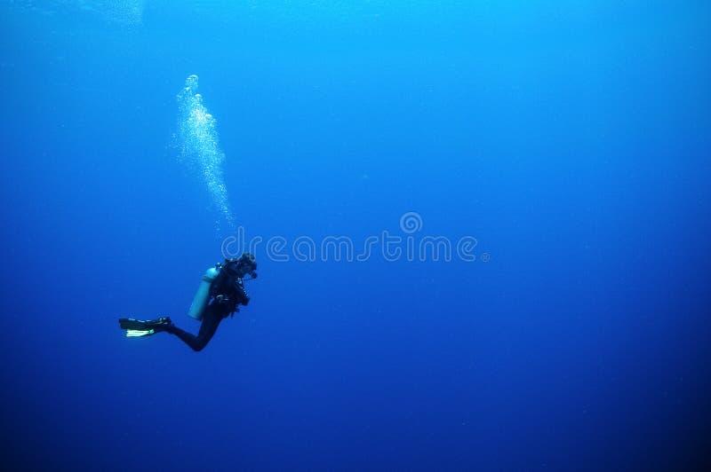 潜水员水肺 库存图片