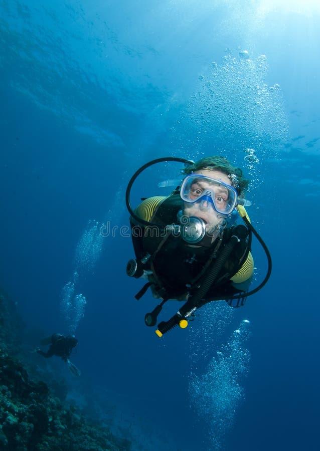 潜水员水肺 免版税库存图片