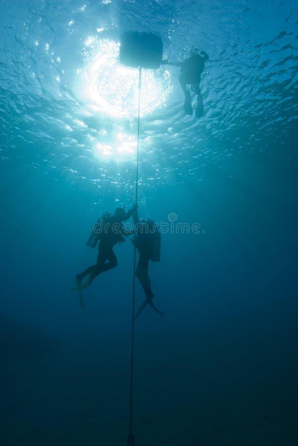 潜水员线路水肺 库存照片