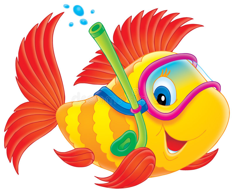 潜水员鱼 向量例证