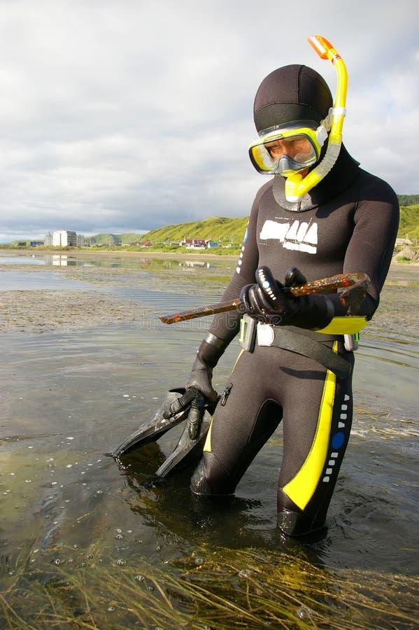 潜水员 免版税图库摄影