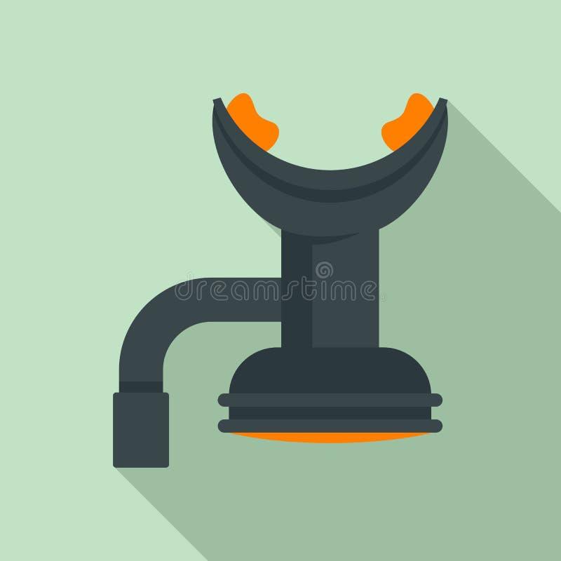 潜水的嘴工具象,平的样式 库存例证