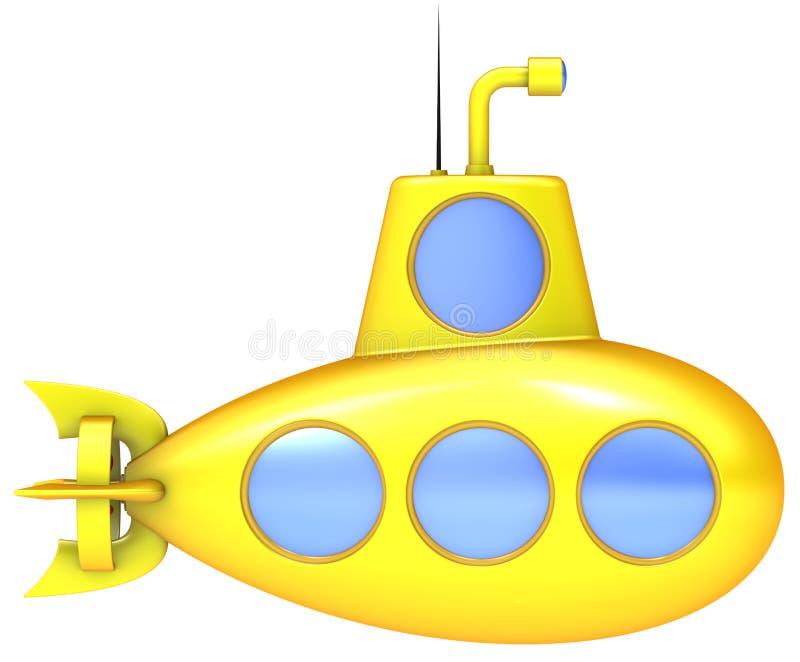 潜水艇黄色 库存例证