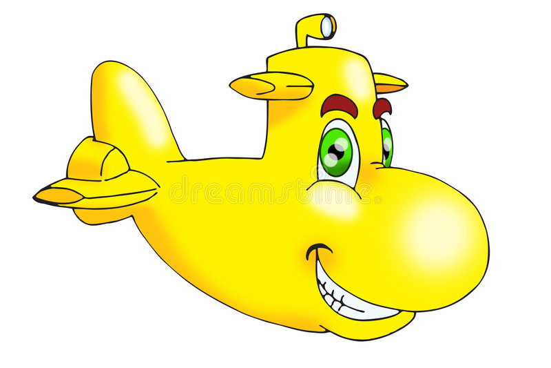 潜水艇黄色 皇族释放例证