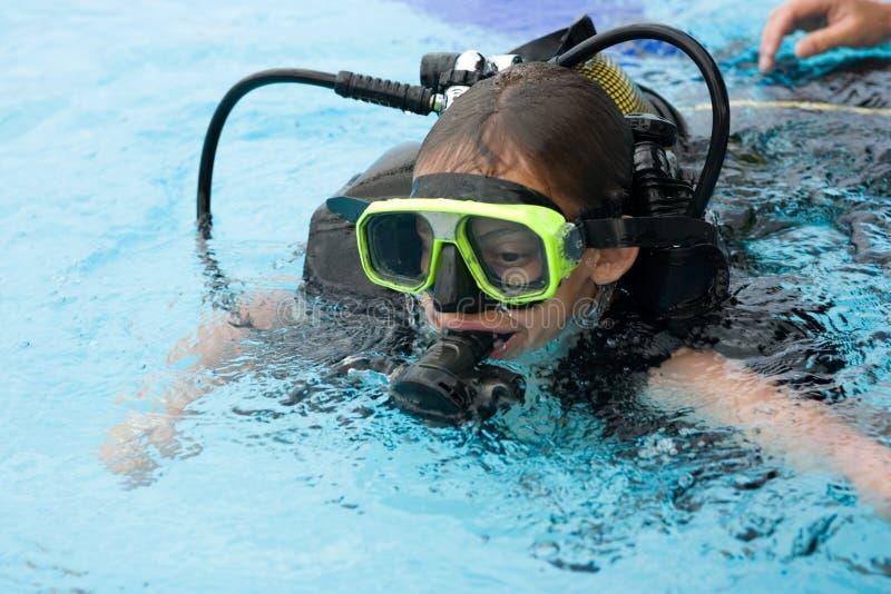 潜水课程 免版税库存照片