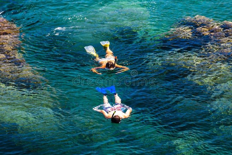 潜航,Cap de Peyrefite,朗戈多克・鲁西荣,法国 库存照片
