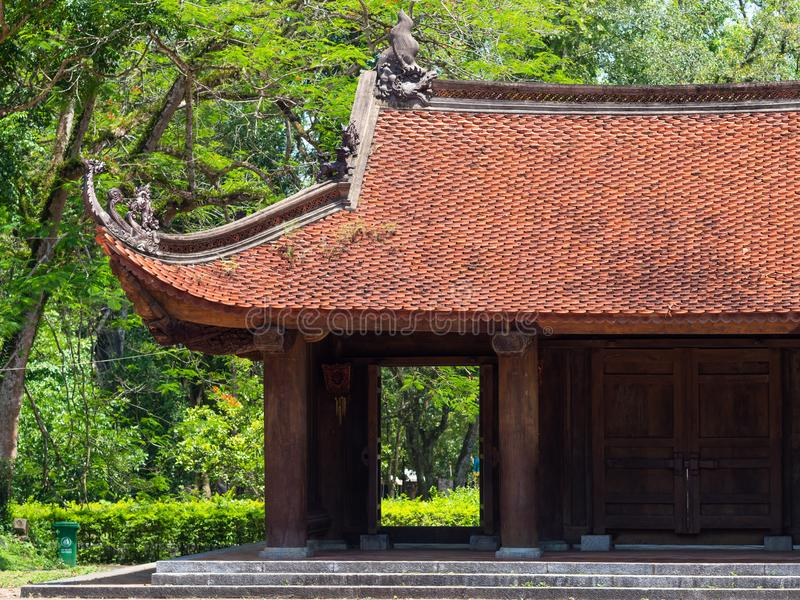 潜逃Kinh寺庙在清化市,越南 免版税库存照片
