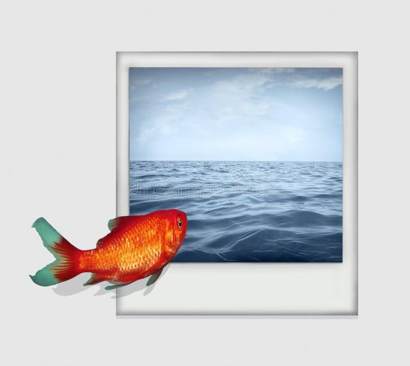 潜水入海洋 向量例证