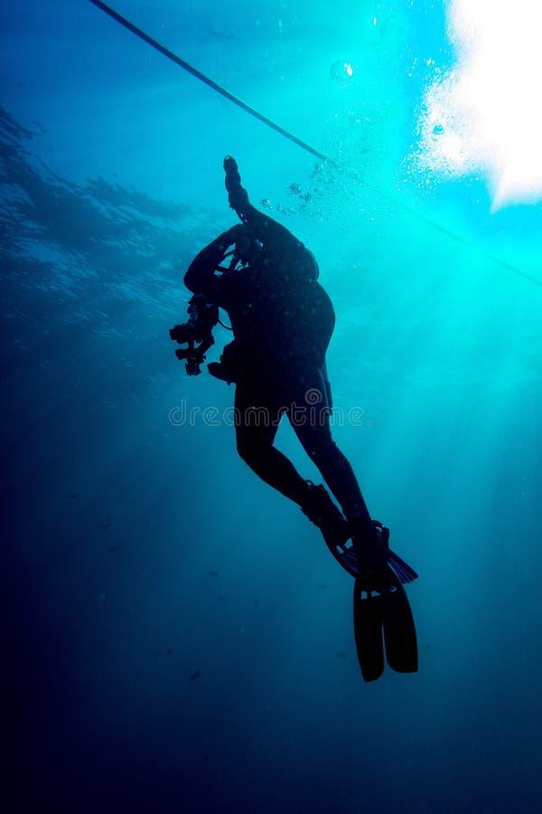 轻潜水员上升 库存照片