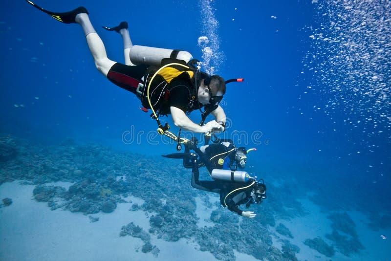 轻潜水员 免版税库存图片