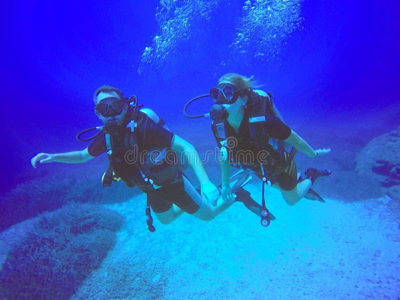 轻潜水员 免版税库存照片