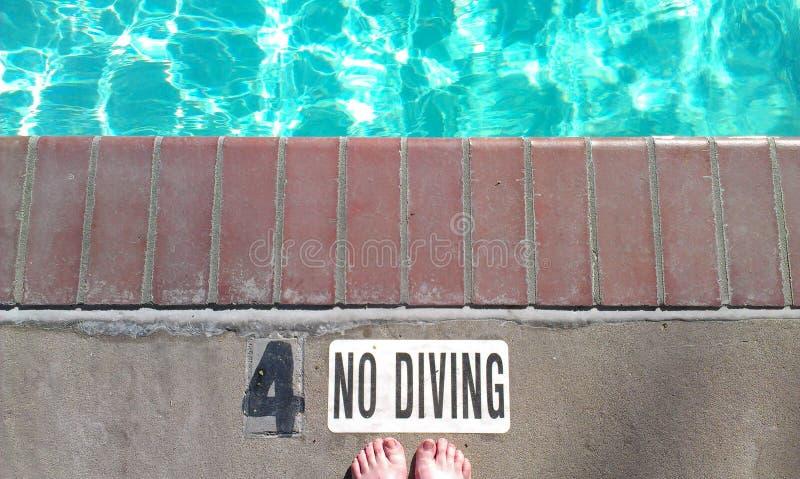 潜水没有符号 库存图片