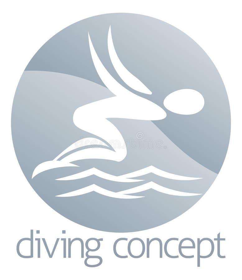 潜水者游泳圈子设计 库存例证