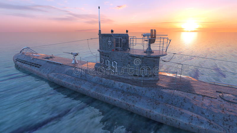 潜水艇 库存图片