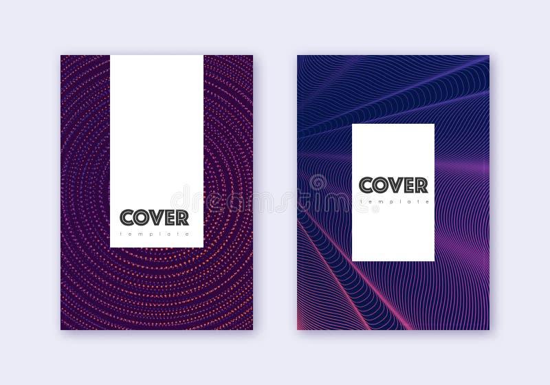 潮人罩设计模板集 紫色摘要 皇族释放例证