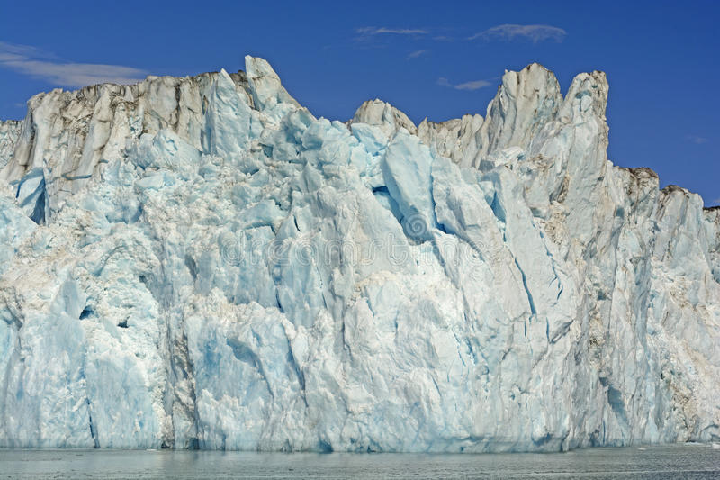 潮水冰川的冰面孔 免版税库存照片