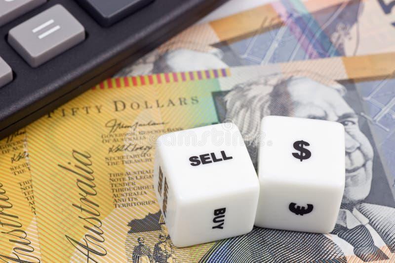 澳大利亚元出售 免版税库存照片