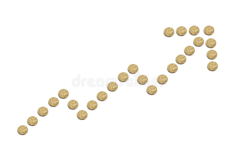 澳大利亚元增加 库存照片