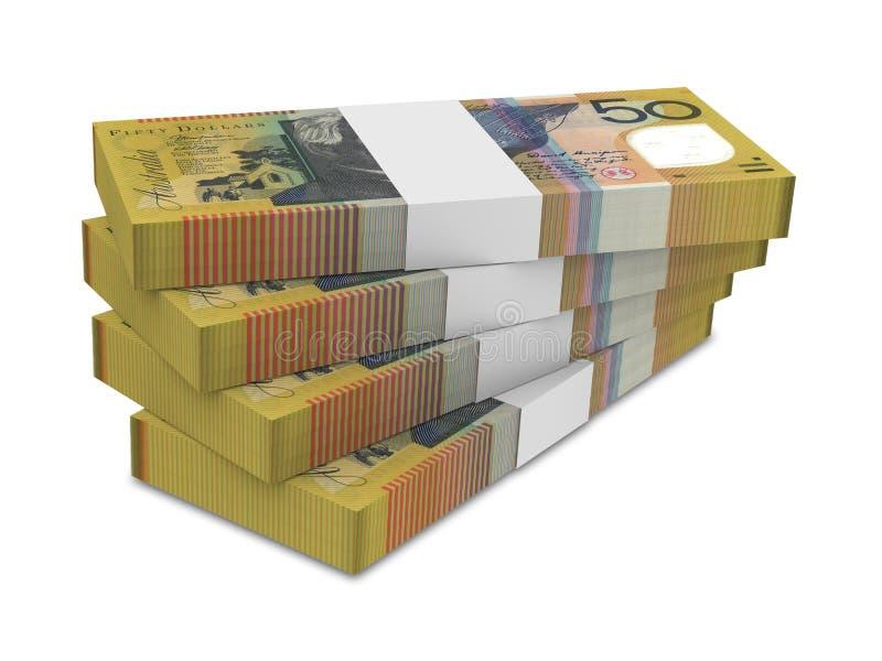 澳大利亚元票据堆 库存例证