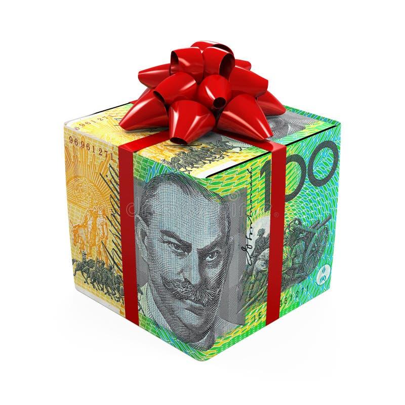 澳大利亚元金钱礼物盒 皇族释放例证