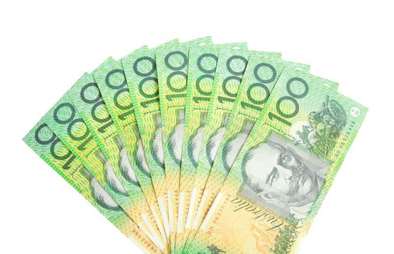 澳大利亚元风扇  免版税库存图片