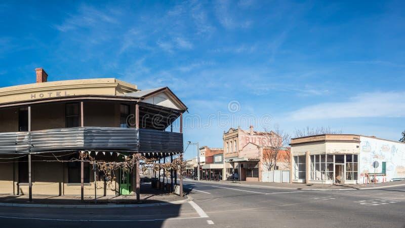 澳大利亚农村镇 免版税库存照片