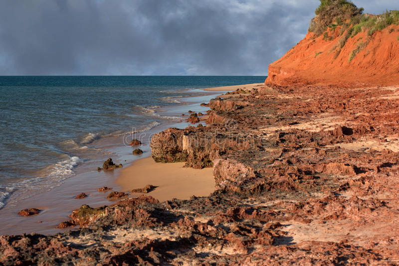澳大利亚北方领土风景弗朗索瓦peron公园 免版税库存照片