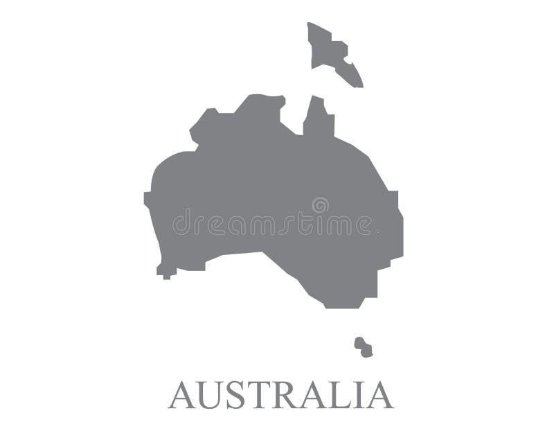 澳大利亚地图传染媒介 库存例证