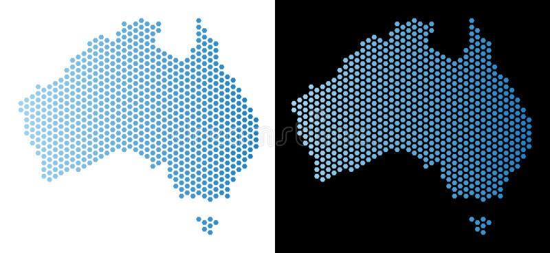 澳大利亚地图六角马赛克 向量例证