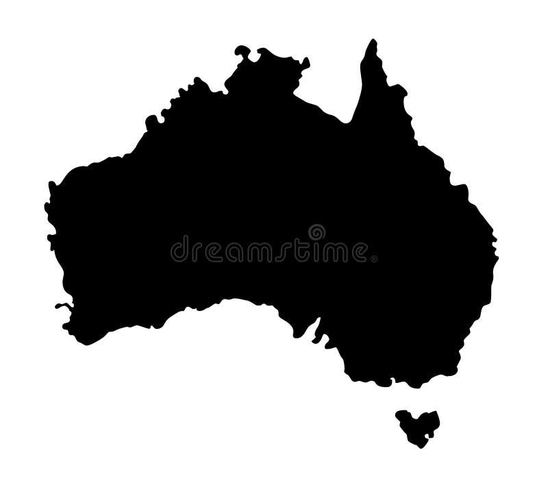澳大利亚地图剪影传染媒介例证 皇族释放例证