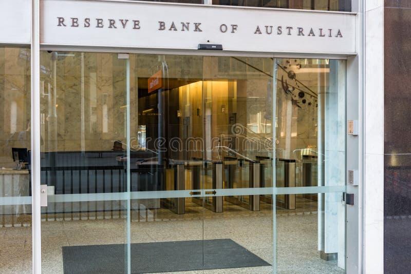 澳大利亚大门储备银行  免版税库存照片