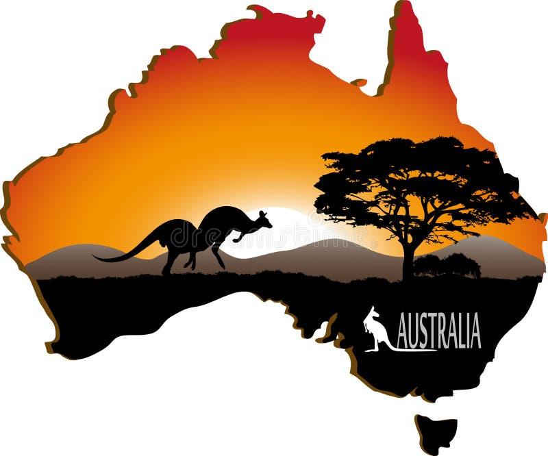 澳大利亚大陆 库存例证