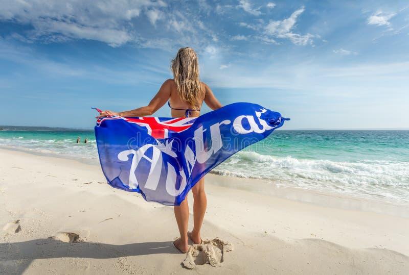 澳大利亚天庆祝或澳大利亚旅行旅游业 免版税库存照片