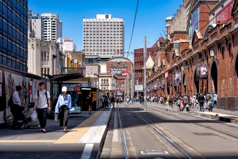 澳大利亚悉尼唐人街/干草市场分局 免版税库存照片