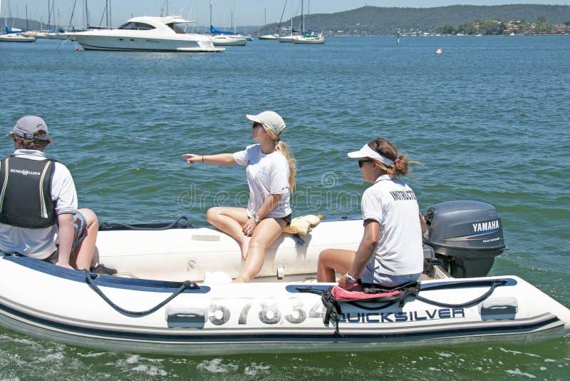 澳大利亚戈斯福德 — 2014年1月1日:帆船儿童 编辑 免版税库存照片