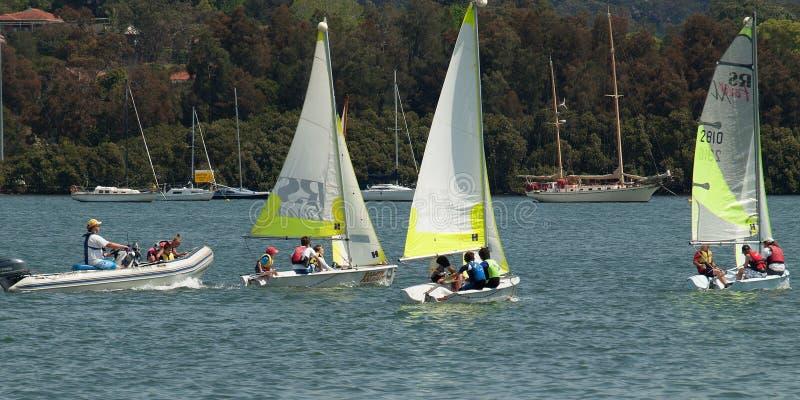 澳大利亚戈斯福德 — 2012年9月27日:帆船儿童 编辑 免版税库存照片