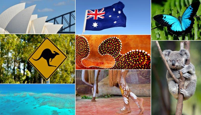澳大利亚拼贴画 免版税库存图片