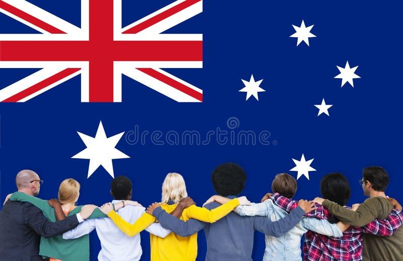 澳大利亚旗子国家国籍自由概念 库存图片