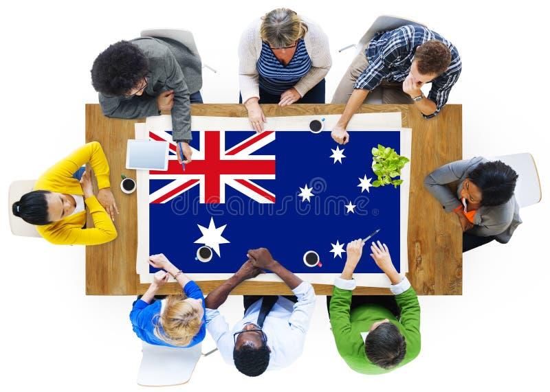 澳大利亚旗子国家国籍自由概念 免版税库存照片