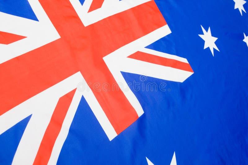 澳大利亚旗子背景 免版税库存图片