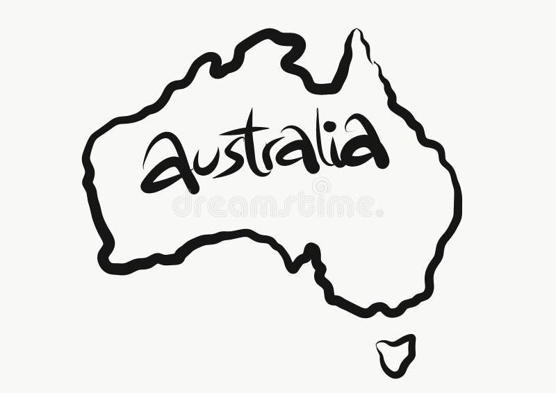 澳大利亚映射 免版税库存照片
