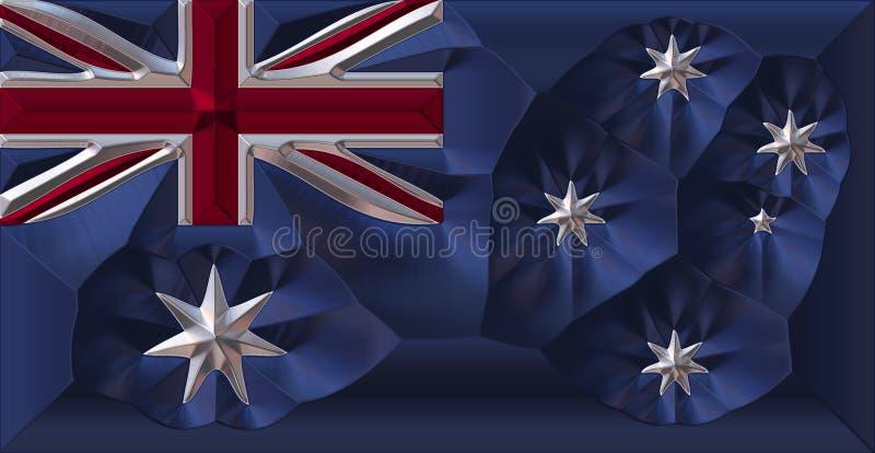 澳大利亚标志金属 库存例证