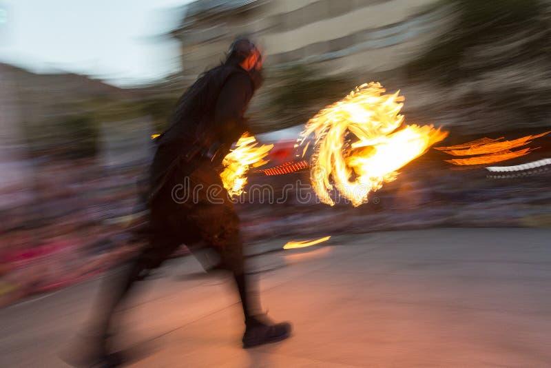 澳大利亚火执行者克里斯火焰 免版税库存照片