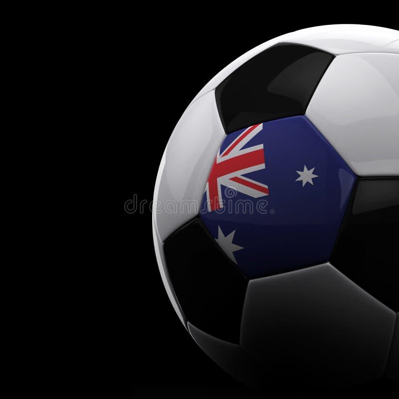澳大利亚球足球 皇族释放例证
