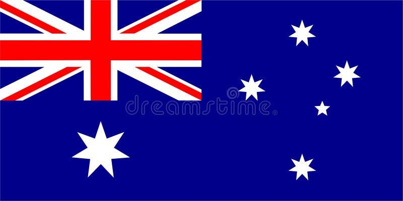 澳大利亚的旗子 向量例证