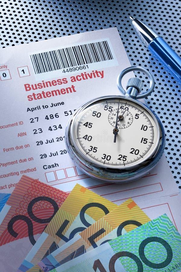 澳大利亚税收税时间金钱 免版税库存照片